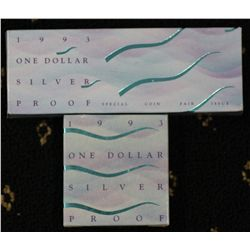 1993 Water is life proof Dollars, Coin fair and regular