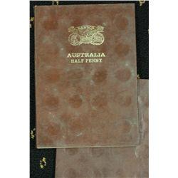 Australia Halfpenny set 1911 to 1964 (no 1923) 2 Sets