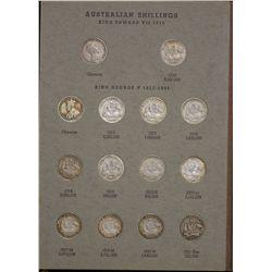 Australia Shilling Collection (no 1933)
