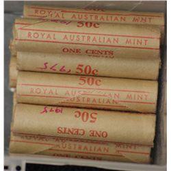 1975 1cent Mint Rolls (10)