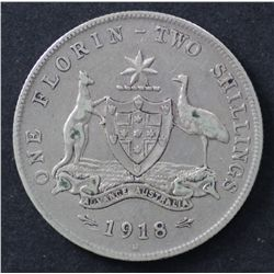 1918 Florin about VF