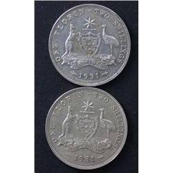 1931 Florin Extremely Fine (2)