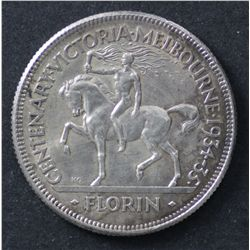 1934/35 Florin Melbourne Centenary Extremely Fine