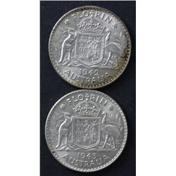 1942M & 1943M Florins Choice Uncirculated