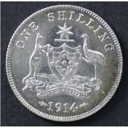 1914 Shilling Uncirculated