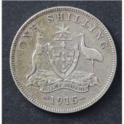 1915 Shilling, nice Fine