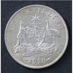 1916 Shilling Extremely Fine