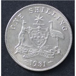 1931 Shilling Nearly Nearly Uncirculated