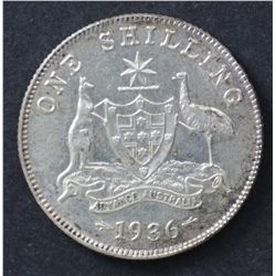 1936 Shilling Nearly Uncirculated