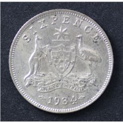 1934 Sixpence Good Extremely Fine