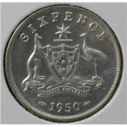 1950 Sixpence Uncirculated