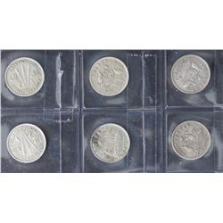 1910 Threepences Very Fine or better (15 Coins)