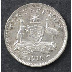 1910 Threepence Uncirculated