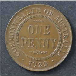1922 Penny Extremely Fine