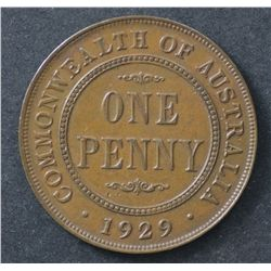 1929 Penny Nearly Unc with lustre