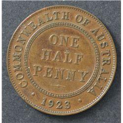 1923 Halfpenny Nearly Very Fine