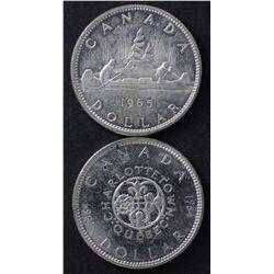 Canada Dollars 1958, 1959, 1964, 1965 BU