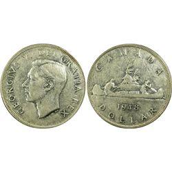 Canada Dollar 1948 Extremely Fine