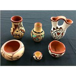 Miniature Jemez Pueblo Pottery Group