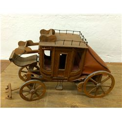Miniature Wooden Stagecoach