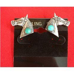 Fred Harvey Era Horsehead Earrings