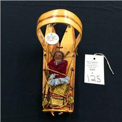 Miniature Vintage Navajo Cradleboard and Doll