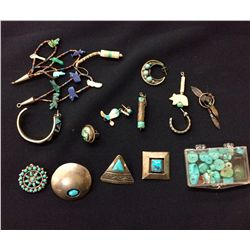 Misc. Silver and Turquoise Lot