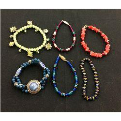 Stretchy Beaded Bracelet Lot