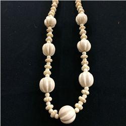 Handcarved Bone Necklace