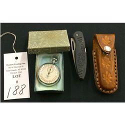 Pocket Knife and Stopwatch Lot