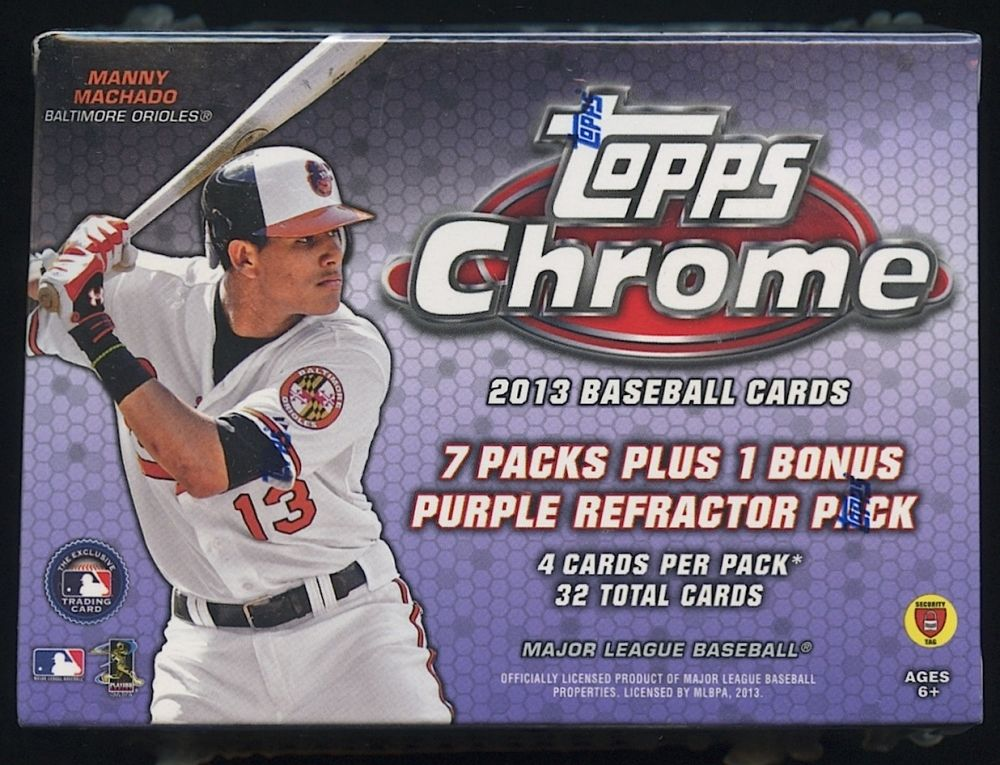 2013 Topps Chrome Baseball Unopened Box With 7 Packs