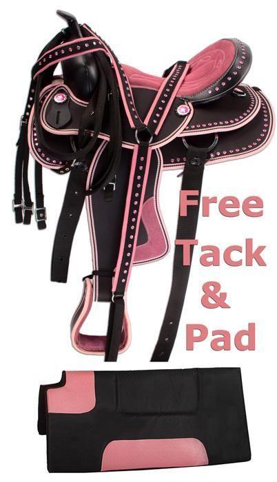 Hot Pink Western Barrel Trail Horse Saddle 15 17 [8205]