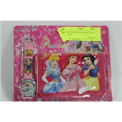 DISNEY PRINCESSES WATCH AND WALLET