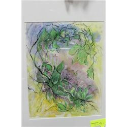 LIA AULBACH  FRAMED WATER COLOUR PICTURE