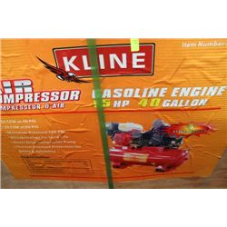 K-LINE 15 HP 40 GALLON GAS AIR COMPRESSOR
