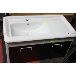 BJS 1002 CERAMIC TOP FLOATING BATHROOM VANITY