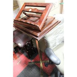 WOOD PULPIT W STAND