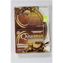 BOX OF 12 QUEST BAR PROTEIN BARS ON CHOICE