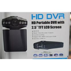"NEW HD DV-R PORTABLE DASH CAM W 2.5"" SCREEN"