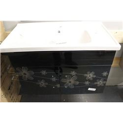 NEW FLORAL FLOATING BATHROOM VANITY