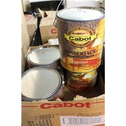 CASE W/ 4 1 GALLON CANS OF BIRCH BARK TIMBER JACK