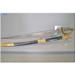 British Navy Sword Ca 1822 [ folding thumb guard, Victorian cypher, maker name is there but hard to