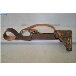 Nazi Officer's Belt & Shoulder Strap [ with PPK holster dated Graf 1940 ]