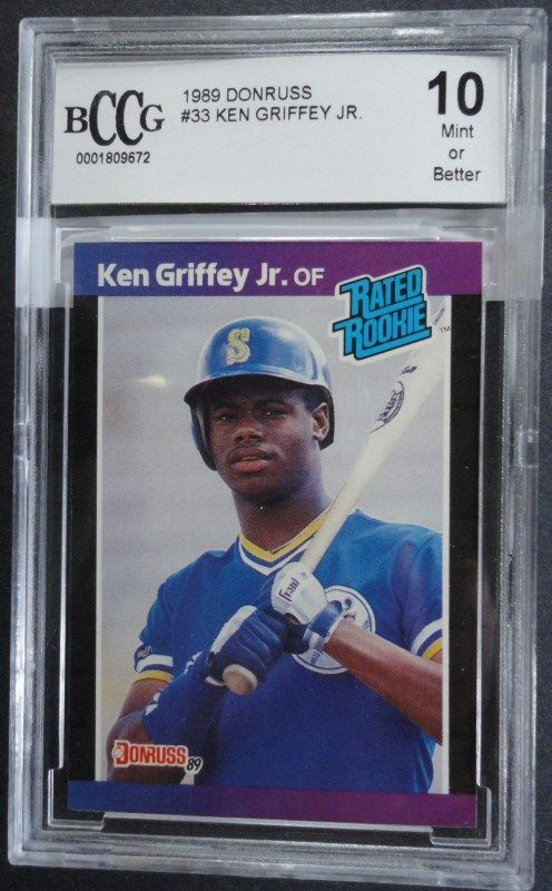 1989 Donruss Ken Griffey Jr Rookie Card Bccg 10