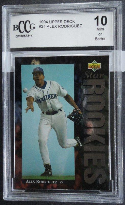 1993 Upper Deck Alex Rodriguez Rookie Card Bccg 10