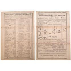 1887 Underwoods Counterfeit Reporter