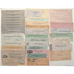 Over 100 Goldfield Checks (railroad, banking, mining, etc.)