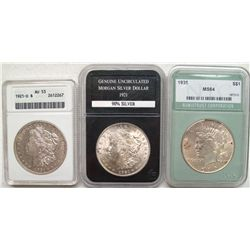 Morgan Dollars - 1900's group of 3