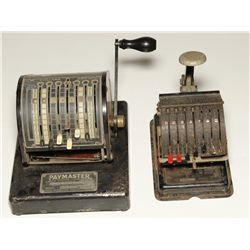 Two Old Check writing Machines