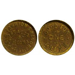 Old Fashion Saloon Token, Globe